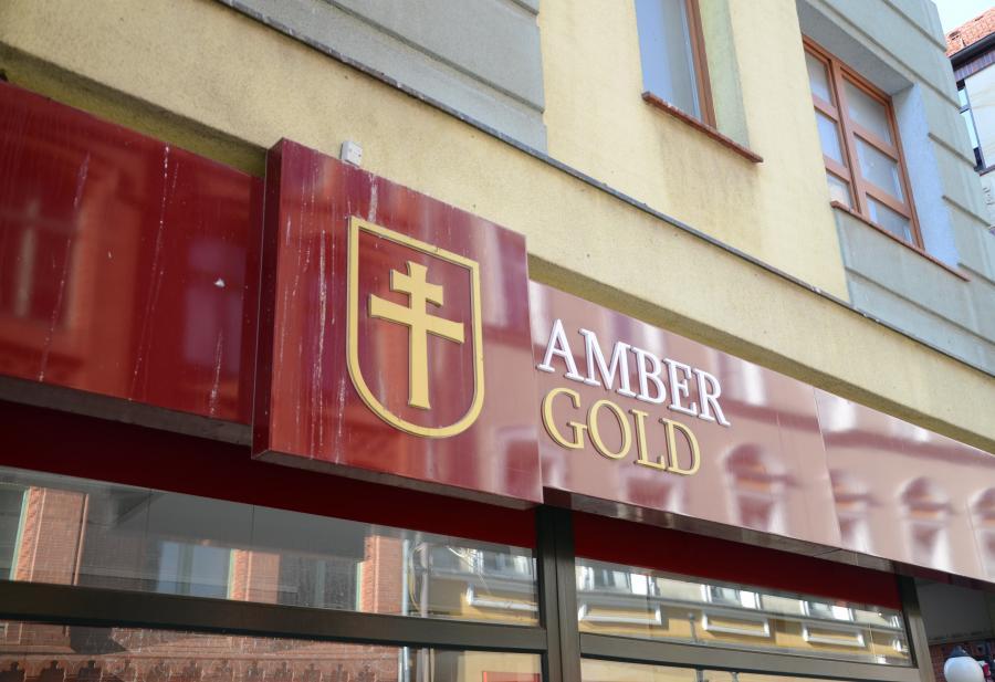 Szyld Amber Gold
