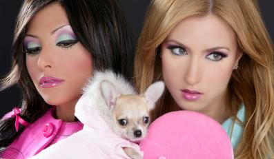 Kobiety w stylizacji a la Barbie
