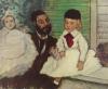 "Edgara Degas ""Portret hrabiego Lepica z córkami"""