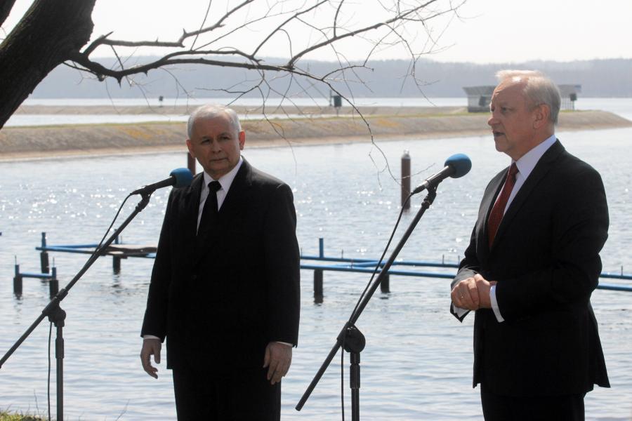 Jarosław Kaczyński i Bolesław Piecha