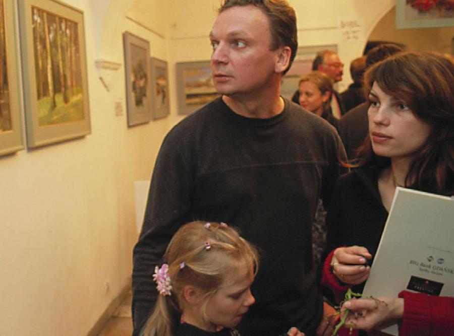 Grzegorz Ciechowski z żoną Anną