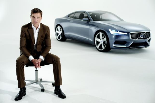 Volvo Concept Coupe i Thomas Ingenlath, wiceszef stylistów Volvo Car Group