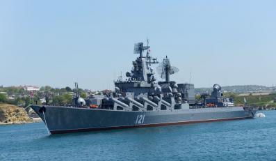 """Rosyjski krążownik """"Moskwa"""""""