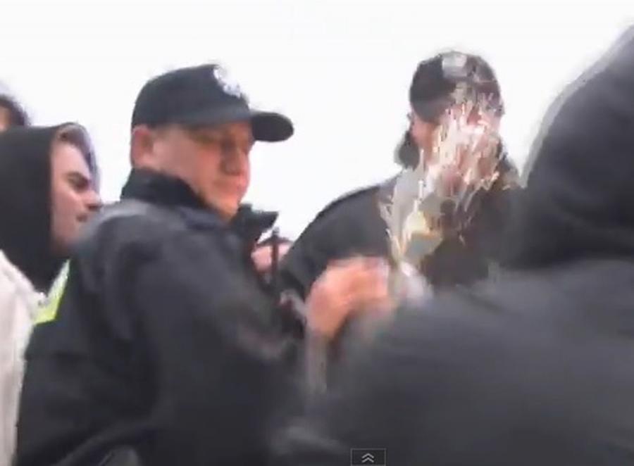 Interwencja policji na meczu
