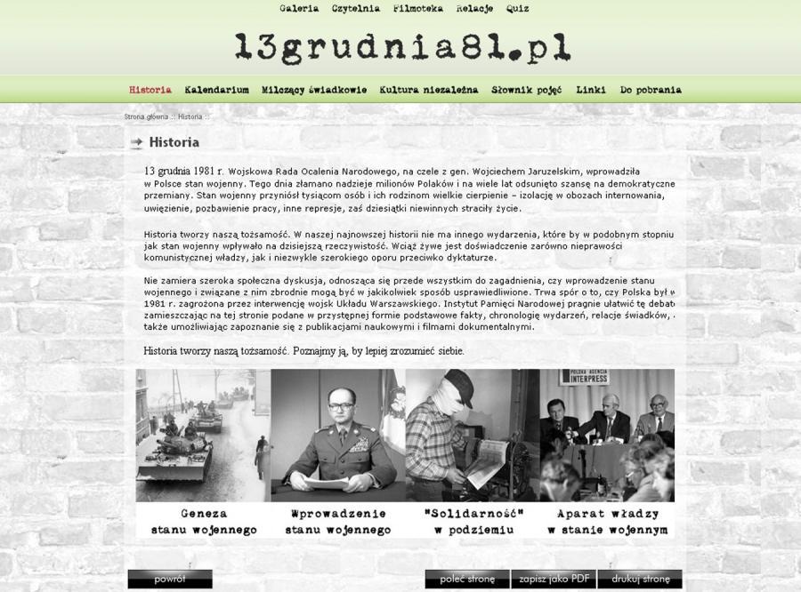 IPN uruchomił stronę z dokumentacją stanu wojennego