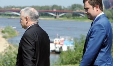 Jarosław Kaczyński i Adam Hofman