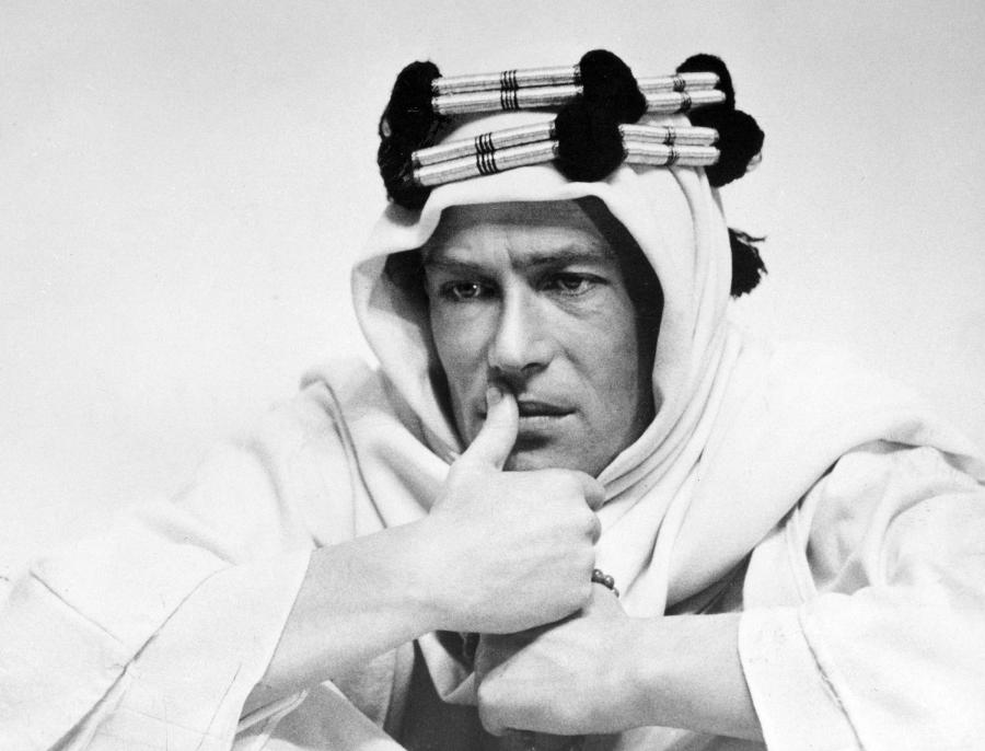 Peter O\'Toole jako Lawrence z Arabii