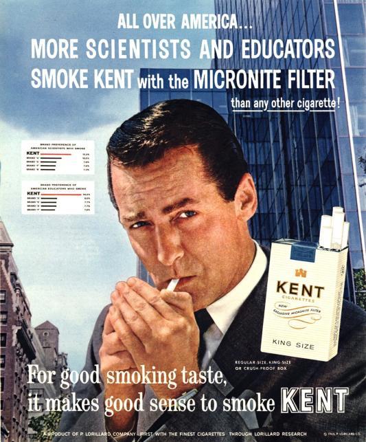 "Papierosy ""Kent"", rok 1969"