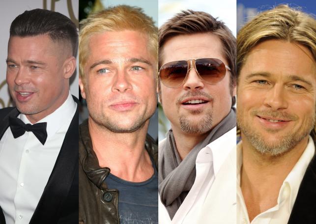 Długie Mokre Farbowane Wszystkie Fryzury Brada Pitta
