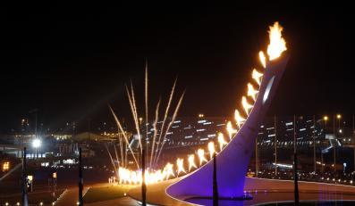 Zapalenie znicza olimpijskiego w Soczi
