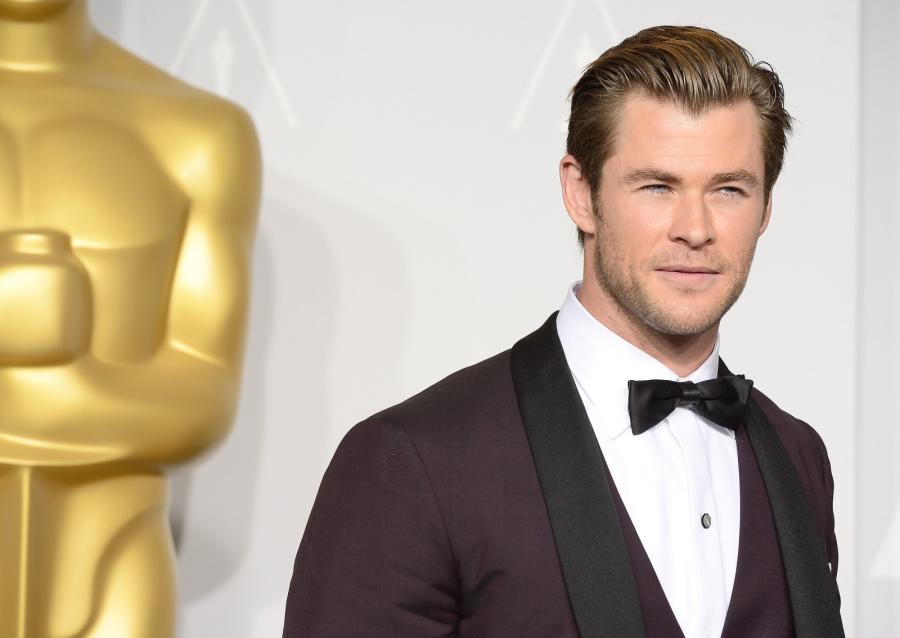 Chris Hemsworth na gali Oscarów 2014