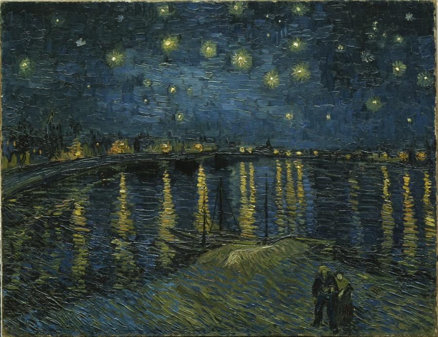 Gwiaździsta noc nad Rodanem (1888)