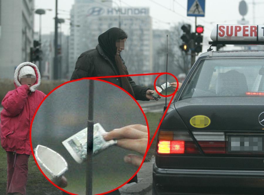 Anna Przybylska zauważyła żebrzącą kobietę i dała jej pieniądze