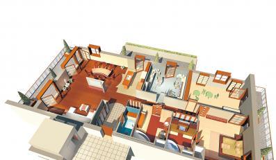 Rozkład mieszkania Piotra Kupichy