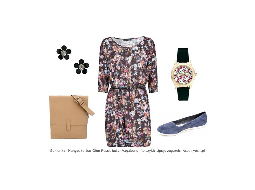 Modne STYLIZACJE z ubraniami w kwiaty - wiosna 2014
