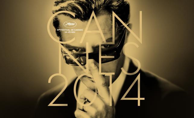 Marcello Mastroianni na plakacie reklamującym 67 edycję festiwalu w Cannes