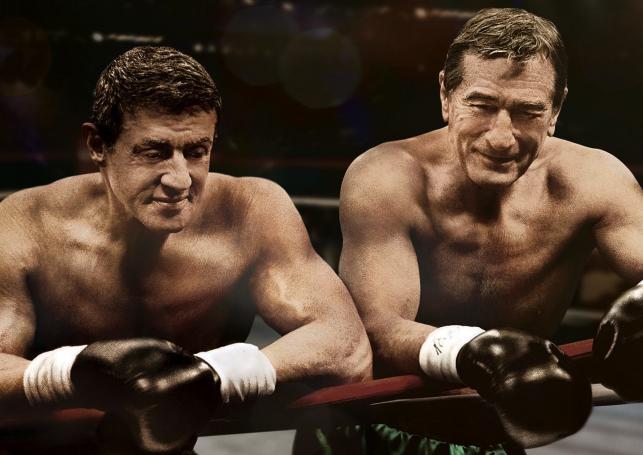 "Robert De Niro i Sylvester Stallone w filmie ""Legendy ringu"""