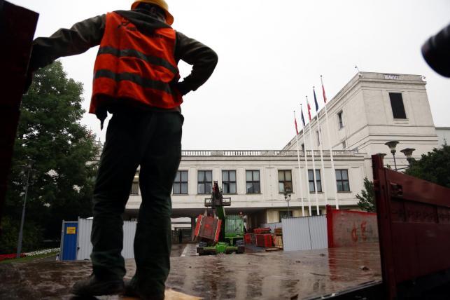 Trwa rozbudowa Sejmu