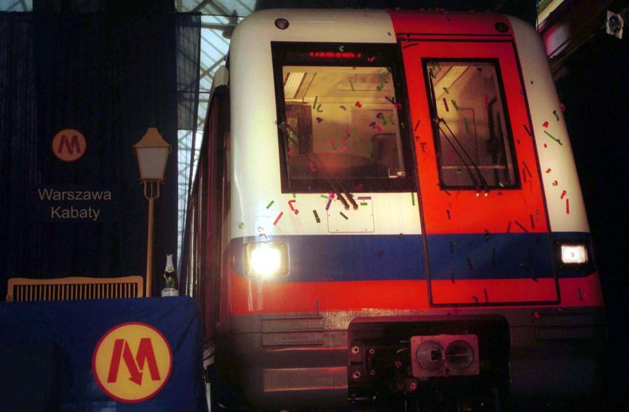 Pociąg warszawskiego metra firmy Alstom