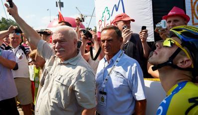 Lech Wałęsa strzałem z pistoletu rozpoczął Tour de Pologne