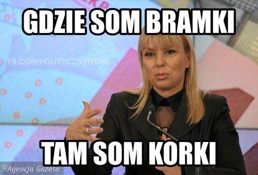 mem z Elżbietą Bieńkowską / Polityczne memy