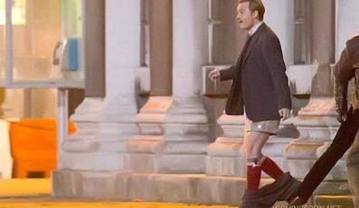 """Johnny Depp bez spodni w filmie """"Mortdecai"""""""