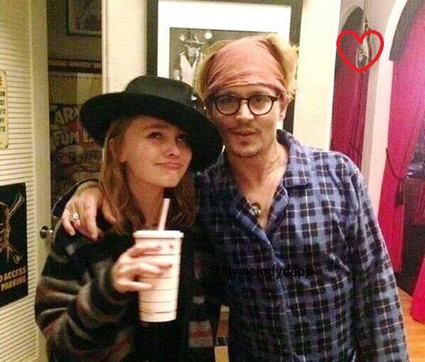 Johnny Depp z córką Lily-Rose