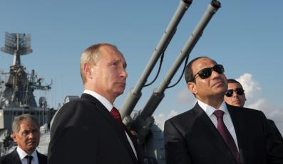 Władimir Putin z prezydentem Egiptu