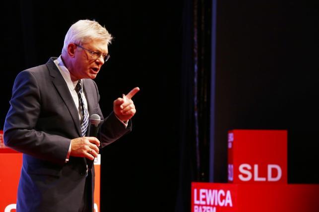 Wystąpienie przewodniczącego Partii Demokratycznej Andrzeja Celińskiego podczas konwencji wyborczej komitetu SLD-Lewica Razem