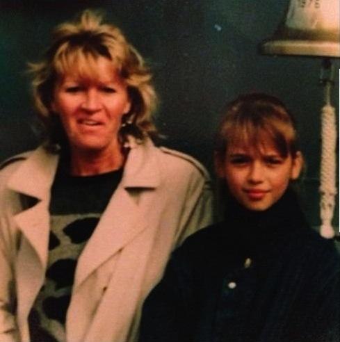 Mała Ania Przybylska z mamą