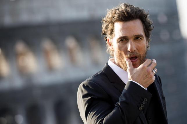 Matthew McConaughey w Rzymie
