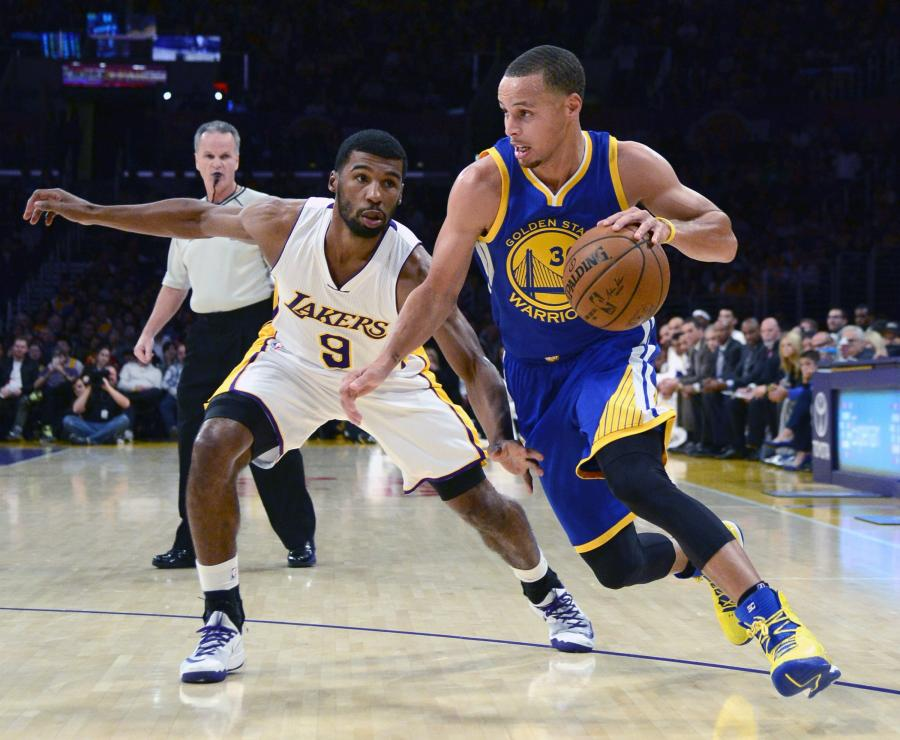 Stephen Curry i Ronnie Price