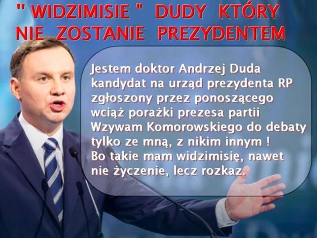 mem / Nie Chcemy by Duda Został Prezydentem Polski
