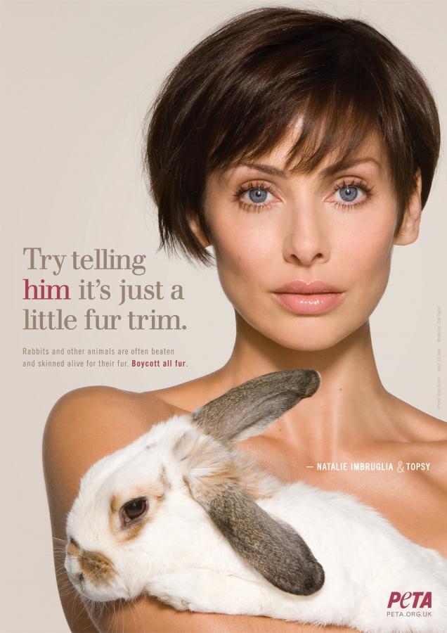 Natalie Imbruglia z króliczkiem
