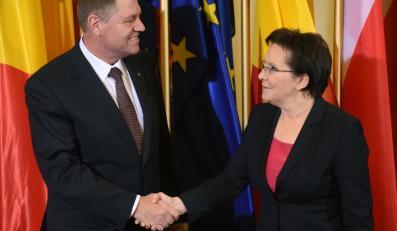 Premier Ewa Kopacz i prezydent Rumunii Klaus Iohannis