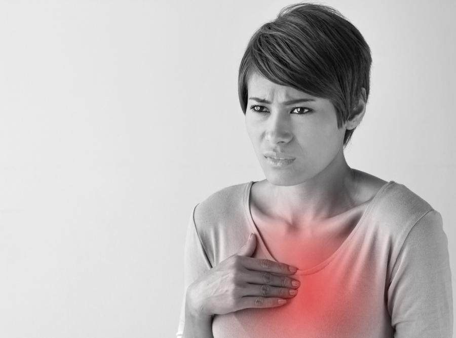 Kobieta ma chore płuca