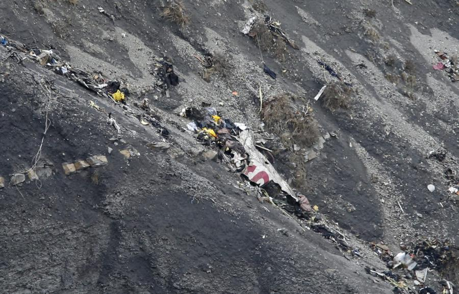 Miejsce katastrofy samolotu linii Germanwings