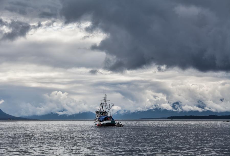 Trawler na morzu