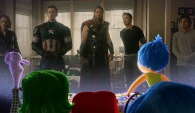 """Dwa hity w jednym zwiastunie: """"Avengers: Czas Ultrona"""" i """"W głowie się nie mieści"""""""