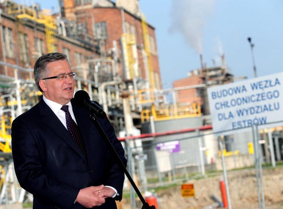 Prezydent Bronisław Komorowski w Kędzierzynie-Koźlu