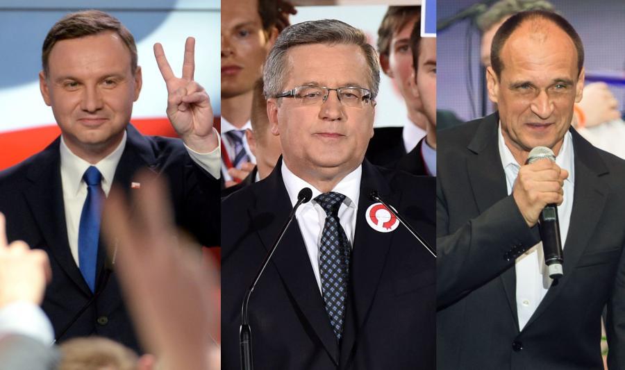 Andrzej Duda, Bronisław Komorowski, Paweł Kukiz
