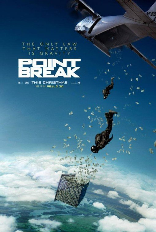 """Plakat zapowiadający nowe """"Point Break"""""""