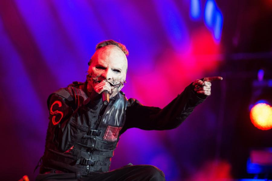Corey Taylor i Slipknot podczas występu na festiwalu Rock im Park w niemieckim Nurembergu