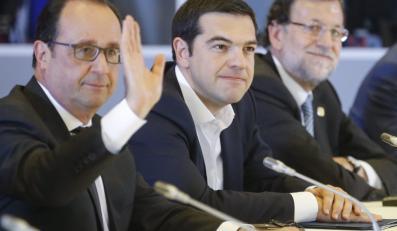 Francois Hollande, grecki premier Alexis Tsipras, i premier Hiszpanii Mariano Rajoy