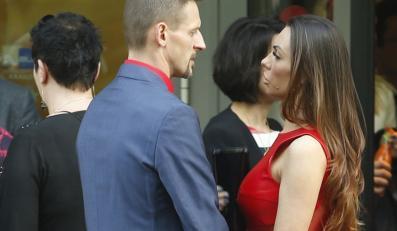Michał Wójcik z partnerką