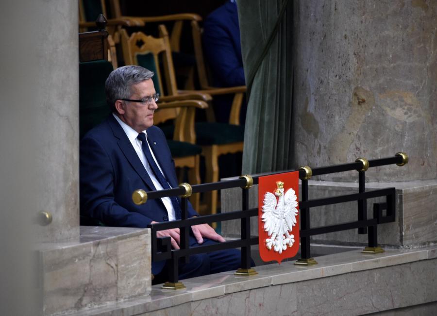 Były prezydent Bronisław Komorowski w Sejmie