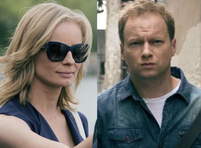 "Magdalena Cielecka i Maciej Stuhr w serialu ""Belfer"""
