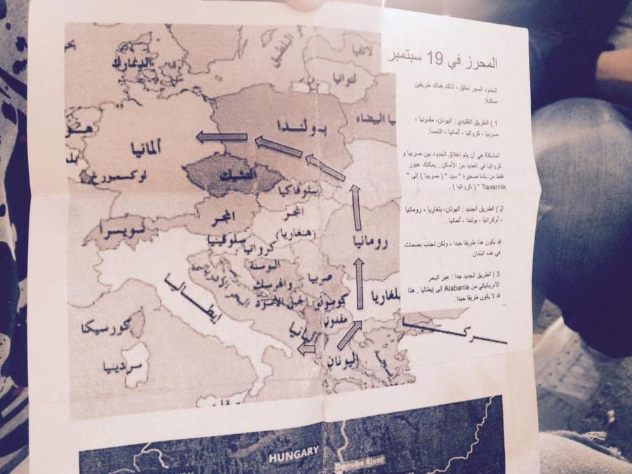 Mapa, którą pokazał niemiecki reporter Malte Henk