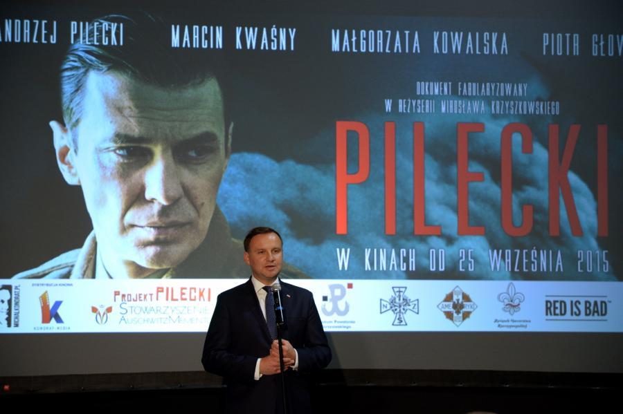 Wystąpienie prezydenta Andrzeja Dudy przed pokazem filmu \