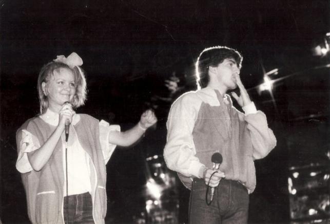Halina Benedyk i Marco Antonelli w 1984 roku